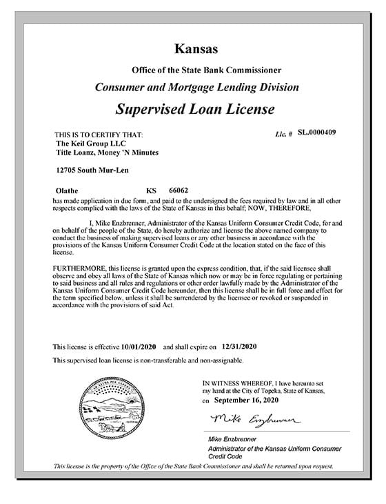 Supervised Loan License Thumbnail